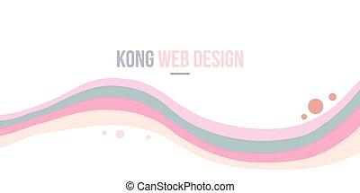 ウェブサイト, 抽象的, コレクション, 波, ヘッダー, 背景