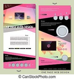 ウェブサイト, 現代, 1(人・つ), デザイン, テンプレート, ページ