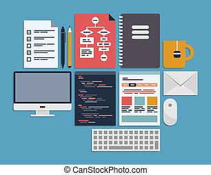 ウェブサイト, 管理, プログラミング