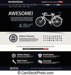 ウェブサイト, 網の設計, テンプレート, 要素