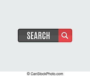 ウェブサイト, 網の調査, 平ら, ボタン, テンプレート, design.