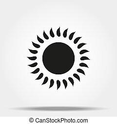 ウェブサイト, 網, グラフィック, 印。, 単純である, 太陽, app, 現代, ∥あるいは∥, シンボル, モビール, ベクトル, デザイン, ボタン, 背景, インターネット, 最新流行である, 白, concept., デザイン, アイコン