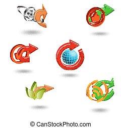 ウェブサイト, 網, セット, &, アイコン, icons., アプリケーション, インターネット