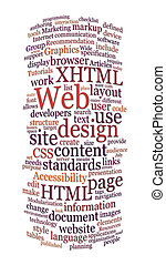 ウェブサイト, 網, 単語, デザイン, 雲