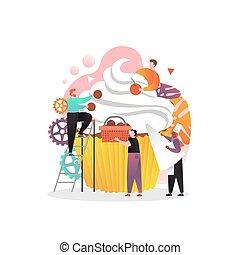 ウェブサイト, 網, 概念, 旗, 甘い, ベクトル, ページ