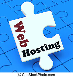 ウェブサイト, 網, 範囲, hosting, ショー