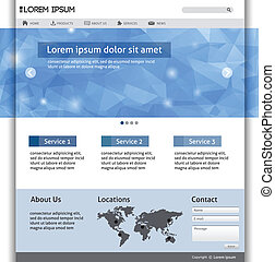 ウェブサイト, 網, 要素, デザイン, templat