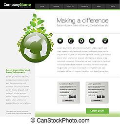 ウェブサイト, 緑, テンプレート
