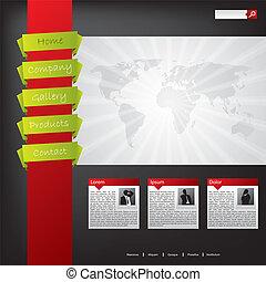 ウェブサイト, 色, デザイン, 涼しい