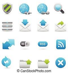 ウェブサイト, 藍色, &, アイコン, s, インターネット, |
