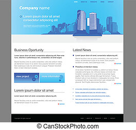 ウェブサイト, 都市, template.