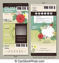 ウェブサイト, 1(人・つ), デザイン, テンプレート, 優美である, ページ