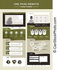 ウェブサイト, 1(人・つ), デザイン, テンプレート, 平和である, ページ
