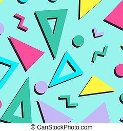 ウェブサイト, 90s, スタイル, ファッション, 生地, 型, 抽象的, 包むこと, ベクトル, ∥あるいは∥, 織物, バックグラウンド。, よい, ペーパー, レトロ, パターン, 80s, wallpapers., デザイン, illustration.