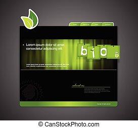ウェブサイト, bio, 印。, テンプレート