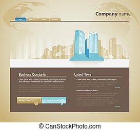 ウェブサイト, city., テンプレート