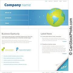 ウェブサイト, globe., テンプレート