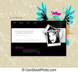 ウェブサイト, photo., ベクトル, 芸術, テンプレート