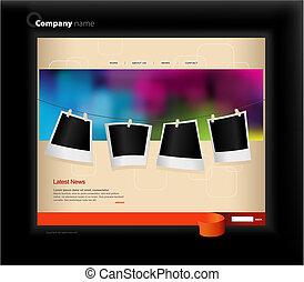 ウェブサイト, photos., テンプレート