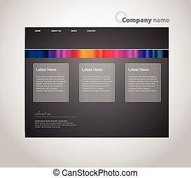 ウェブサイト, stripes., テンプレート