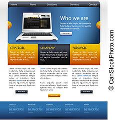 ウェブサイト, templete, デザイン