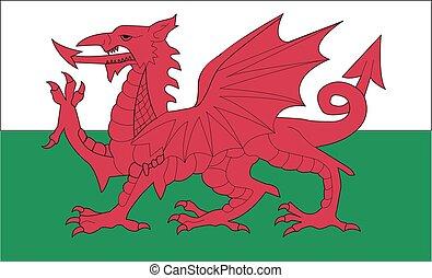 ウェールズの旗, ベクトル, イラスト