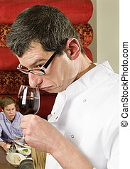 ウエーター, savouring, ワイン