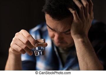 ウォッカ, アルコール, の上, 夜, 終わり, 飲むこと, ∥あるいは∥, 人