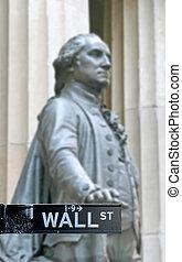 ウォールストリート, ∥で∥, ジョージ・ワシントン彫像