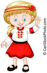 ウクライナ, 伝統的である, 女の子, 衣服