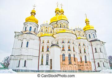 ウクライナ, 修道院, kiev, lavra, 有名, pechersk