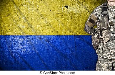 ウクライナ, 兵士, 旗