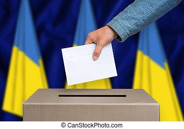 ウクライナ, 箱, -, 選挙, 投票, 投票