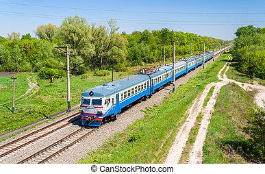 ウクライナ, kiev, 郊外, 地域, 列車, 電気である