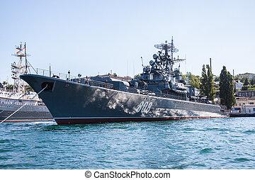 ウクライナ, sevastopol, 軍艦, 湾, crimea, ロシア人