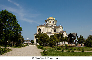 ウクライナ, sevastopol, st. 。, vladimir., taurica, crimea, chersonesus, 大聖堂