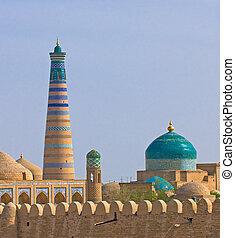 ウズベキスタン, 都市, 古代, ミナレット, khiva