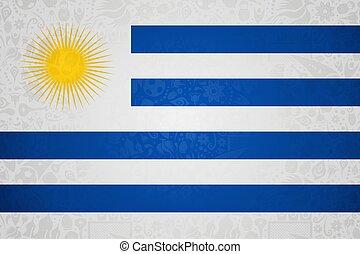 ウルグアイの旗, 背景, ロシア人, サッカー, でき事