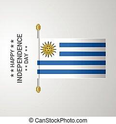 ウルグアイの旗, 背景, 掛かること, 日, 独立