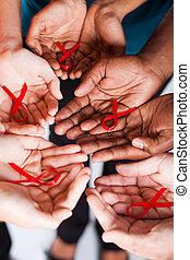 エイズ 意識の リボン, hiv, 赤