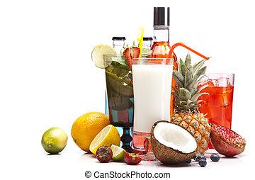 エキゾチック, セット, 飲み物, アルコール, 成果