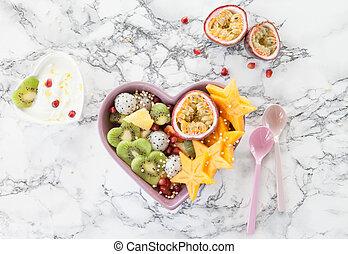 エキゾチック, 新鮮な果物 サラダ