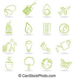エコロジー, そして, 環境, シンボル
