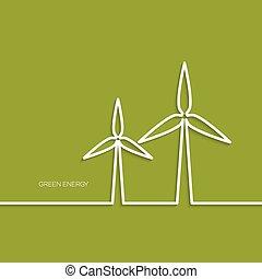 エコロジー, ベクトル, イラスト, 概念