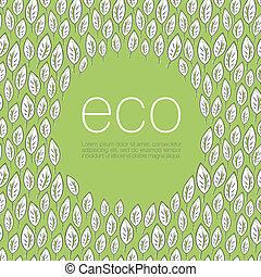 エコロジー, ポスター, デザイン, バックグラウンド。, ベクトル, イラスト, eps10