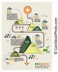 エコロジー, 概念, infographic, デザイン, テンプレート, 美しい