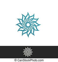 エコロジー, 自然, ロゴ, 要素, 葉