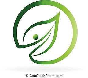 エコロジー, 葉, ロゴ
