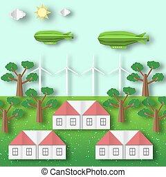 エコロジー, 風景, conservation., 環境