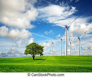 エコロジー, -, 風, 変化しなさい